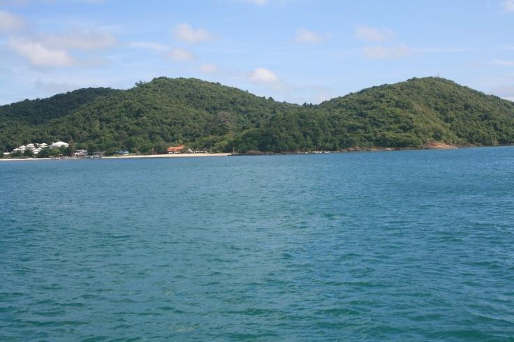 Het uitzicht vanaf de boot is veelbelovend