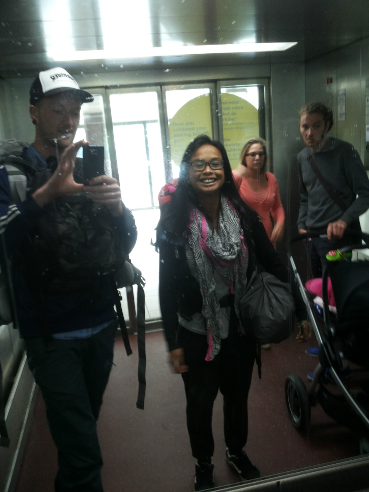 De allereerste reis-selfie!