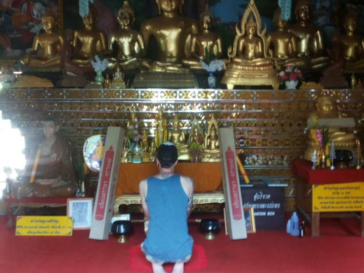Een altaar zoals je ze veel tegenkomt in Thailand