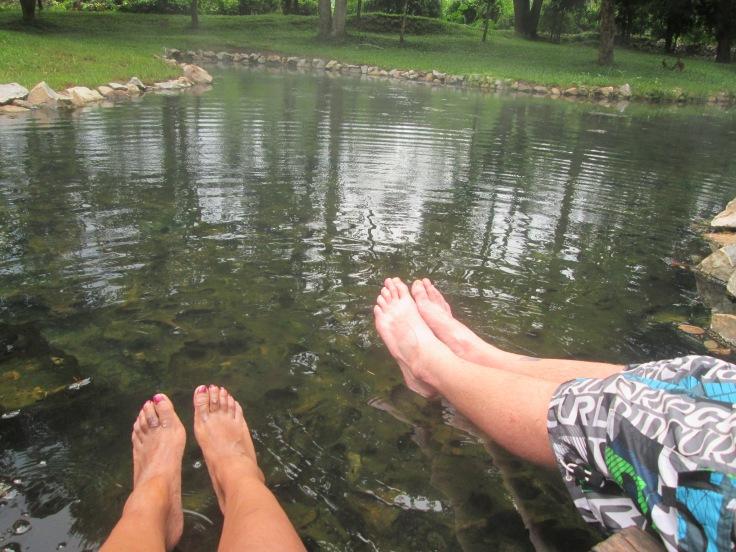 Beetje te heet onder onze voetjes