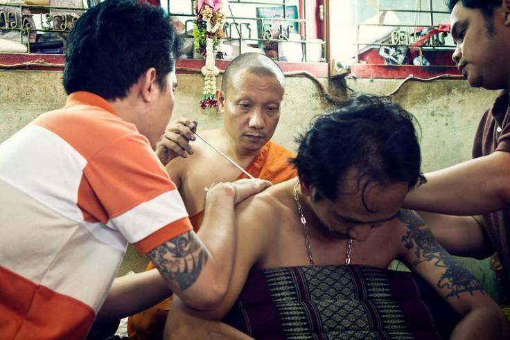 De bekende monnik in actie