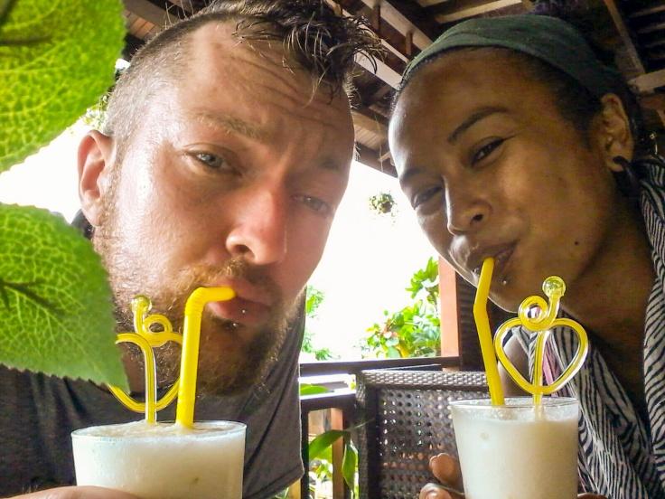 Gelukkig hadden ze hier ook coconutshakes!