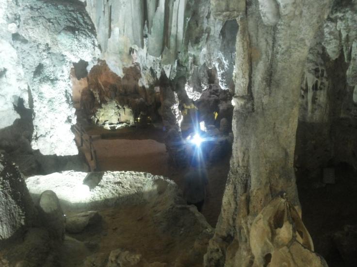 Onwerkelijk mooi, binnen in de grot