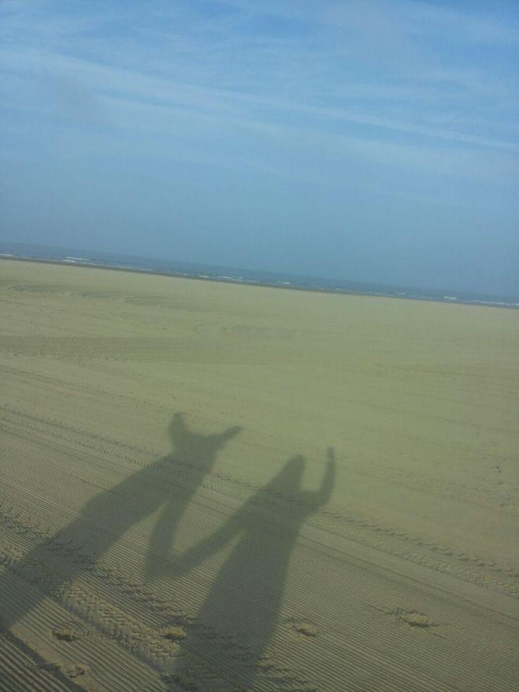 Ook weer een ander strand en een andere zee!