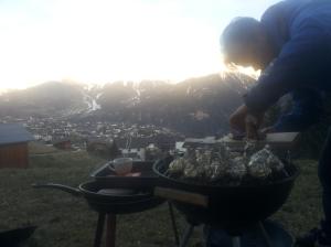 Was het laatst nog barbecuen in de bergen...