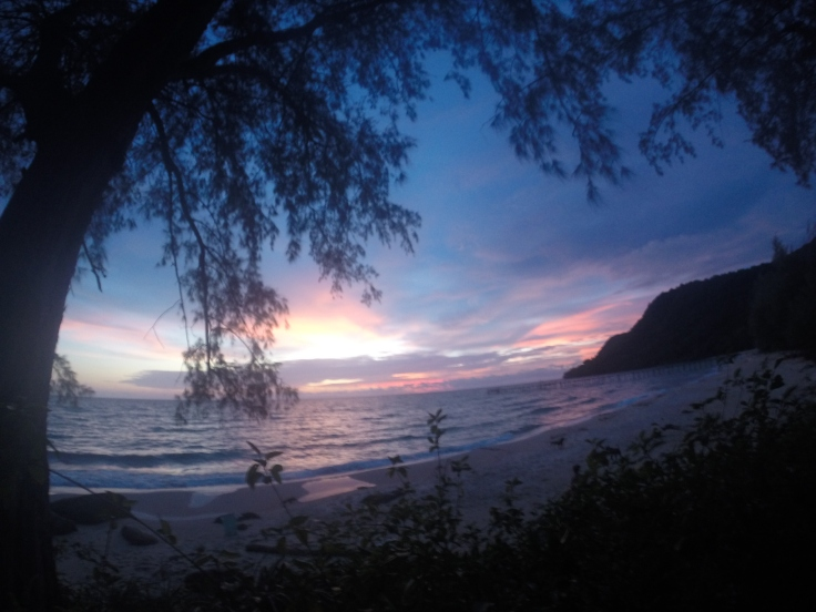 Zelfs 's avonds is de zee prachtig
