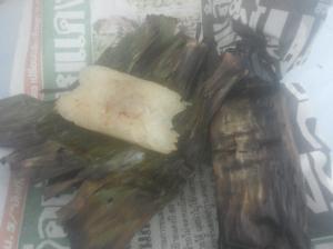 Gegrilde stickyrice met kokos